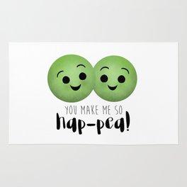 You Make Me So Hap-pea! Rug