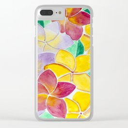 Plumeria flowers Clear iPhone Case