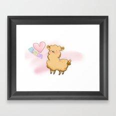 Heart Alpaca Framed Art Print