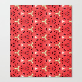 Gabriella Watermelon Slime Design Canvas Print