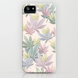 Watercolor Pot Leaves Pastel iPhone Case