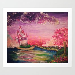 She Lives in a Fairy Tale Art Print