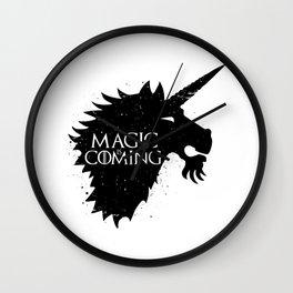 Magic is Coming Wall Clock
