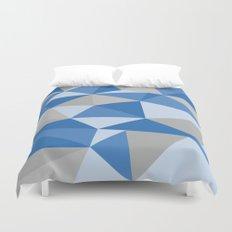 Blue & Gray Geometric Duvet Cover