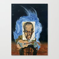 allyson johnson Canvas Prints featuring Robert Johnson by C.M. Duffy