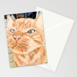 Oliver the Sniffy Red Tabby Cat Stationery Cards