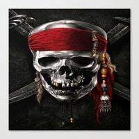 pirate Canvas Prints featuring PIRATE by Acus