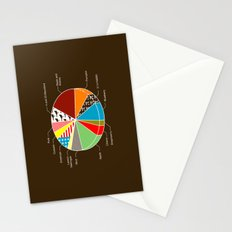 Pie Chart Stationery Cards