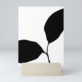 Seedling Leaning Left - Black and White Botanical Mini Art Print