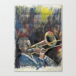 Jazz Trombone 1 Canvas Print