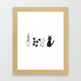 MIYAZAKI FRIENDS Framed Art Print