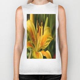Beautiful Yellow Lily Biker Tank