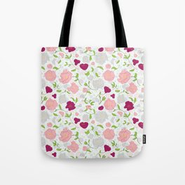Positively Peonies Floral Pattern Tote Bag