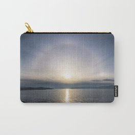 Halo over ice of lake Baikal Carry-All Pouch