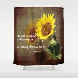 Faithful Sunflower Shower Curtain