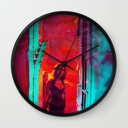 Colorblind Doorways Wall Clock