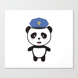 Panda Police Officer Canvas Print