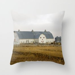 Happy Barn Throw Pillow
