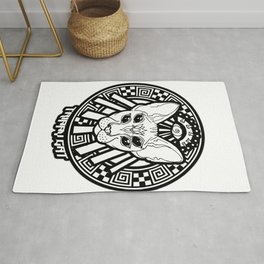trippy cat - witchy craft - witch illustation sticker Rug