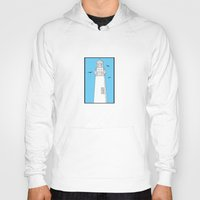 lighthouse Hoodies featuring Lighthouse by Janko Illustration