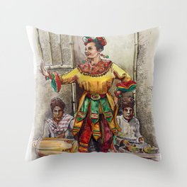Tari topeng Betawi Throw Pillow