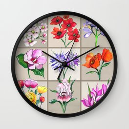 Flowers of the Holy Land (Israel) Wall Clock
