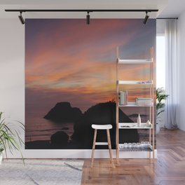 Surfers' Sunset Wall Mural