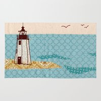 lighthouse Area & Throw Rugs featuring Lighthouse by Alli Coate