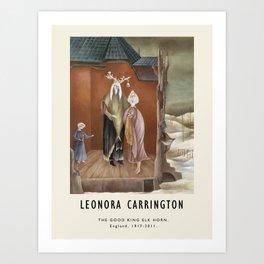 Poster-Leonora Carrington-The Good King Elk Horn. Art Print