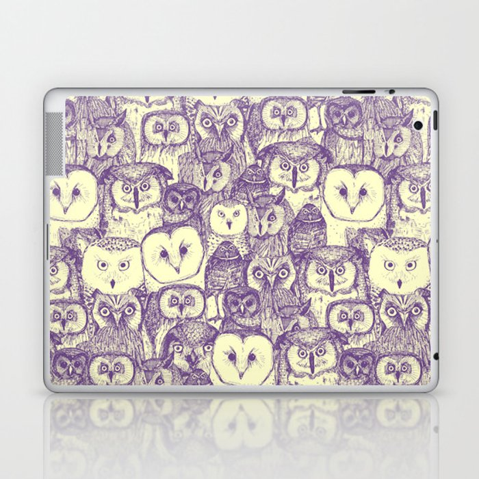just owls purple cream Laptop & iPad Skin