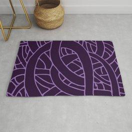 Microcosm in Purple Rug