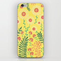 A Yellow Flowery Pattern iPhone Skin