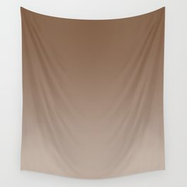 Brown to Pastel Brown Horizontal Linear Gradient Wall Tapestry