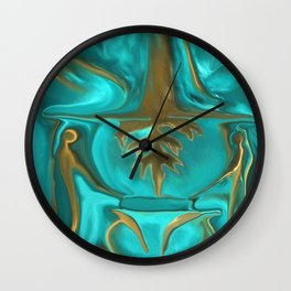 The Midas Touch by Sherri Of Palm Springs Wall Clock