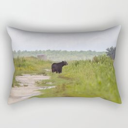 Adult Black Bear Rectangular Pillow