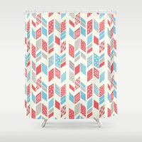 arrows Shower Curtains featuring Arrows by MarikoSG