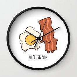 We're Sizzlin' Wall Clock