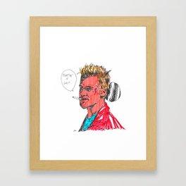 BRAD SH*T Framed Art Print