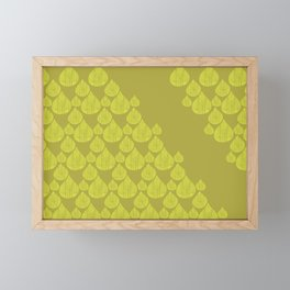 Green drops Framed Mini Art Print