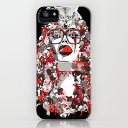 Wolfgirl iPhone Case