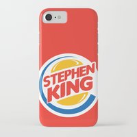 stephen king iPhone & iPod Cases featuring Stephen King by Alejo Malia