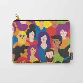Flat Art People Carry-All Pouch