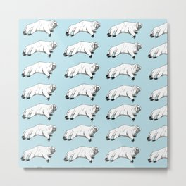 tardigrade (water bear) pattern Metal Print