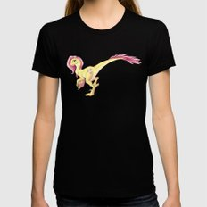 Raptor Fluttershy Womens Fitted Tee Black X-LARGE