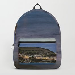 New Quay, Cardigan bay, Wales. Backpack