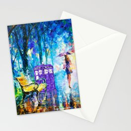 Little Tardis With The Girl Stationery Cards