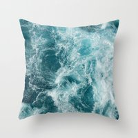 Throw Pillows featuring Sea by Vickn