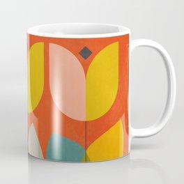mid century bauhaus floral large 1 Coffee Mug