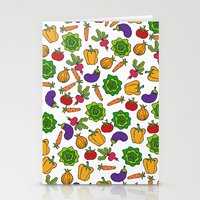 vegetables Stationery Cards featuring Vegetables by Alisa Galitsyna