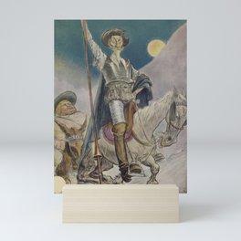 Don Quixote and Sancho Panza Magazine Cover Mini Art Print